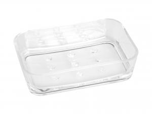 HOME Pack 6 Porta rectangular transparent acrylic soap Exclusive Italian Design