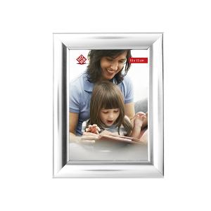 HOME Pack 6 Vertical Plastic Photo Holder Silver 10X15 Frames Top Italian Brand