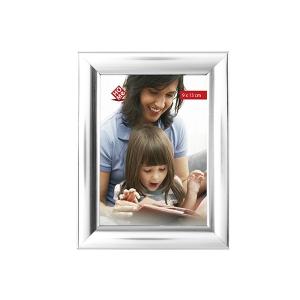 HOME Pack 6 Vertical Plastic Photo Holder Silver 9X13 Frame Top Italian Brand