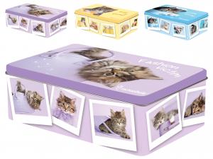 HOME Pack 6 Rectangular Tins Cats20X13Xh6 Decoration Food Storage Italian Design