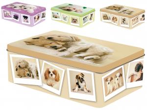 HOME Pack 6 Rectangular Tins Dogs20X13Xh6 Decoration Food Storage Italian Design