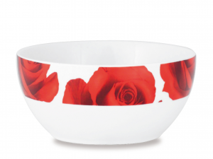 HOME Pack 6 Porcelain Bowl Roses Cm13 Bowls Exclusive Brand Design Made in Italy