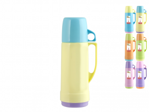 HOME Pack 6 Thermos Colors Lt 0.5 Camping Picnic Exclusive Italian Design Brand