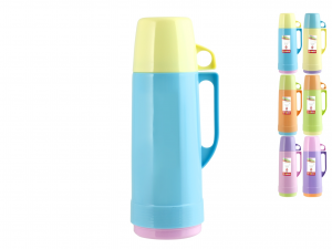 HOME Pack 6 Thermos Colors Lt 0.75 Camping Picnic Exclusive Italian Design Brand