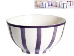 HOME Pack 8 Bowl Ceramic Sweet Moments Lines Bowls Exclusive Italian Design