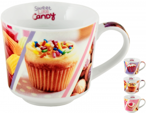 HOME Pack 9 Mug Jumbo Candy China Cc400 Breakfast Exclusive Italian Design Brand