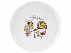 HOME Pack 6 porcelain dishes pizza chef 33 cm dishes Exclusive Italian Design