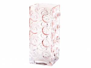 HOME Chicago Glass Vase 35 Cm Pink Exclusive Brand Design Made in Italy