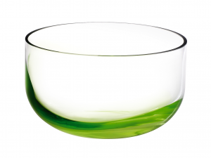 HOME Vase Glass 12.7 Cm Green Background  Exclusive Brand Design Made in Italy