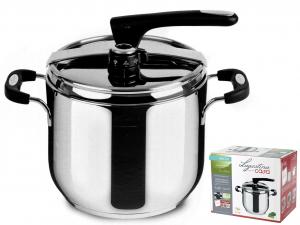 LAGOSTINA Pressure cooker Briosa stainless steel lt.7 Pots preparation Italy