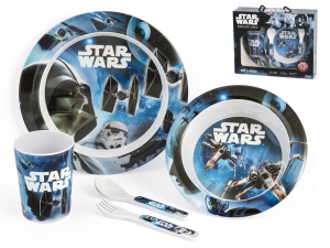 LULABI Pack 5 Star Wars Kid Melamine Rogue1 Exclusive Brand Design Made in Italy