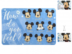 LULABI Pack 12 Placemats Polypropylene Disney Mickey Exclusive Italian Design
