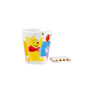 LULABI Pack 20 Melamine Cups Disney Winnie Cc190 Kitchen Ware Top Italian Brand