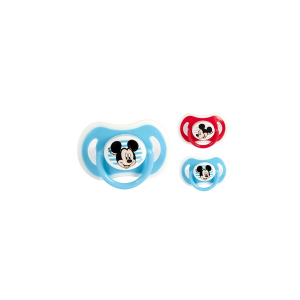 LULABI Pack 6 Silicone Pacifiers Orthodontic Disney Mickey 3M ChildS Bedroom