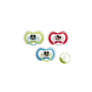 LULABI Pack 6 Silicone Pacifiers Orthodontic Mickey 3M ChildS Bedroom Italy