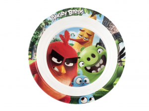 LULABI Pack 6 Plates Melamine Angry Birds Bottom 20 Cm. Exclusive Italian Design