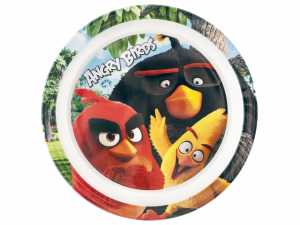 LULABI Pack 6 Plates Melamine Angry Birds 21.5 Cm. Plan Exclusive Italian Design