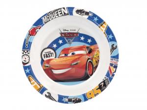 LULABI Pack 6 Piatti Melamina Disney Cars3 Fondo 20 cm Exclusive Italian Design
