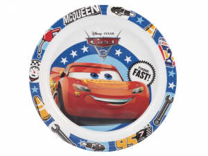 LULABI Pack 6 Melamine Plates Disney Cars3 Plan 21.5 Cm Exclusive Italian Design
