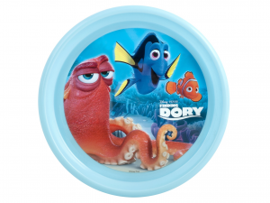 LULABI Pack 6 Plates Plastic Disney Dory Plan 22.5 Cm. Exclusive Italian Design