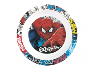 LULABI Pack 6 Plate Melamine Spiderman Bottom 20 Exclusive Italian Design Brand