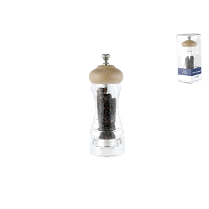 OFFICINE STANDARD Acrylic pepper mill with ceramic mechanism with pepper 15