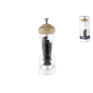 OFFICINE STANDARD acrylic pepper mill with ceramic mechanism with pepper 20