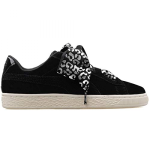 SNEAKERS PUMA SUEDE HEART ATHLUXE INF BLACK-SILVER-WHITE 366846-01