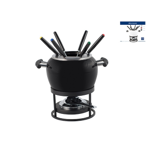 OFFICINE STANDARD black enamel fondue Pack 10 pieces Kitchen Top Italian Brand