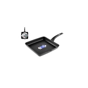 PINTI INOX Smooth Non-Stick Grill Efficient Cm22 Kitchenware Top Italian Brand