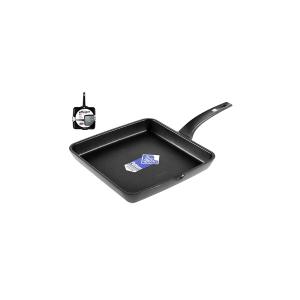 PINTI INOX Smooth Non-Stick Grill Efficient Cm28 Kitchenware Top Italian Brand
