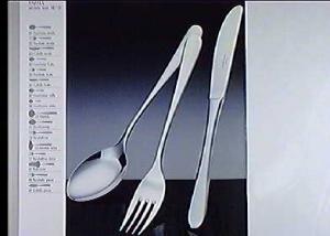 PINTI INOX Pack 12 Inox Dessert Forks Hotel Kitchenware Exclusive Italian Design