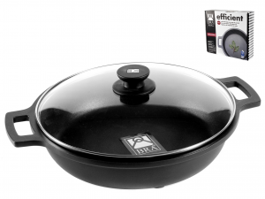 PINTI INOX Non-Stick Pan 2 Handles Cm40 Efficient With Lid Top Italian Brand