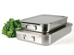 PINTI INOX Baking Tray Inox Catering 60X40 Pots Preparation Top Italian Brand