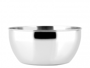 PINTI INOX Salad bowl stainless rounded CM28 Salad bowls storage containers