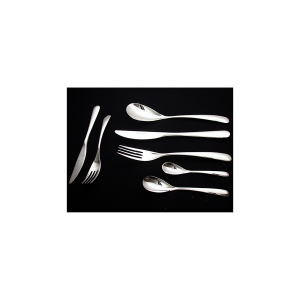 PINTI INOX Pack 12 fruit forks stainless swing utensils kitchen cutlery Italy