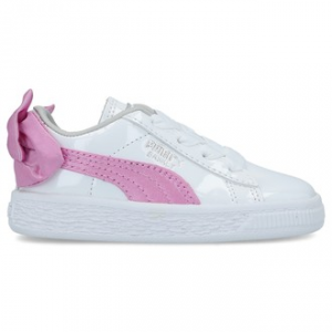 SNEAKERS PUMA BASKET BOW PATENT AC INF WHITE-ORCHID-GRAY 367623 02