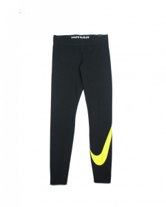 LEGGINGS NIKE BLACK CON LOGO GREEN NEON AR3509-013
