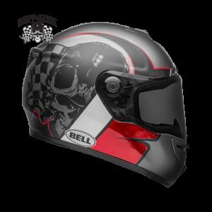 CASCO MOTO INTEGRALE BELL SRT HART-LUCK GLOSS/MATTE CHARCOAL/WHITE/RED SKULL