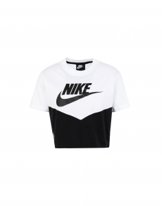 T SHIRT CROPTOP NIKE LOGO WHITE/BLACK AR2513-010