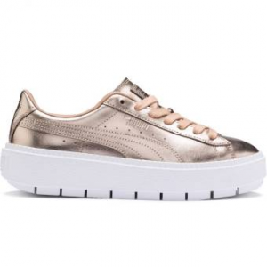 SNEAKERS PUMA BASKET PLATFORM TRACE LUXE DUSTY CORAL-WHITE 367852 01