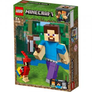 LEGO MINECRAFT MAXI-FIGURE DI STEVE CON PAPPAGALLO 21148