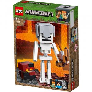 LEGO MINECRAFT MAXI-FIGURE DELLO SCHELETRO CON CUBO DI MAGMA 21150