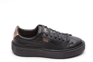 SNEAKERS PUMA BASKET PLATFORM RG BLACK-ROSE GOLD 368190 01