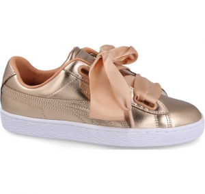 SNEAKERS PUMA BASKET HEART LUXE WN'S DUSTY CORAL-PUMA WHITE 366730 03