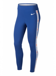 LEGGINGS NIKE CON FASCIA LOGO BLUE/ORANGE AR2201-480