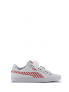 SNEAKERS PUMA BASKET HEART AOP 368191 02 WHITE-RED
