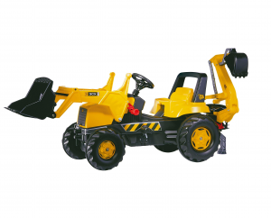 ROLLY TOYS JCB TRAC BACKHOE, C.RUSPA J. + ESCAVATORE POST. 812004