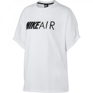 T SHIRT NIKE WHITE CON SCRITTA LOGO BLACK AIR AR3147-100