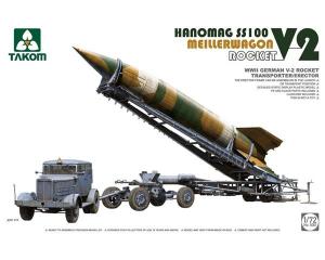 WWII German V-2 Rocket Transporter/Erector Meillerwagen + Hanomag SS100
